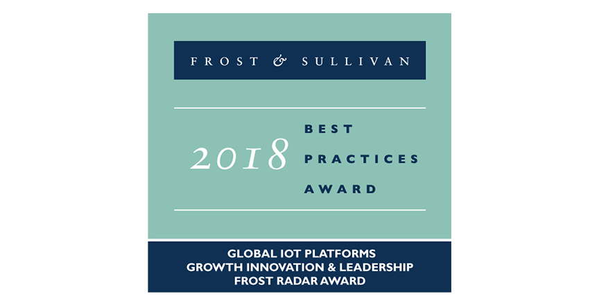IoT Platforms - Global - Growth, Innovation & Leadership Frost Radar Award 2018