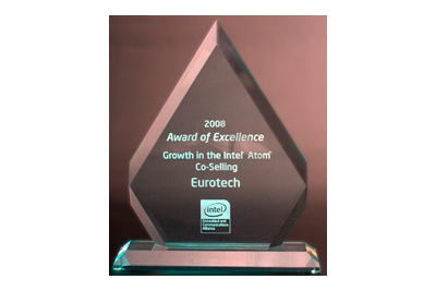 Award of Excellence for Growth in Intel® Atom™ Co-Selling 2008