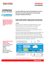 Eurotech M2M Technical Building Blocks focus on a Multi-Service Gateway Approach and Standards- Compliant Software Elements