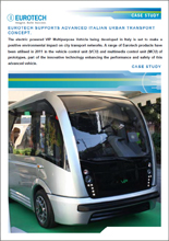 Eurotech supports advanced italian urban transport concept