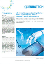 IoT, device management and High Performance Edge Computing: Preliminary lessons from Covid-19