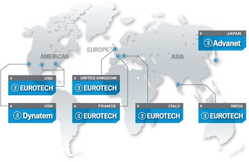 eurotech group map